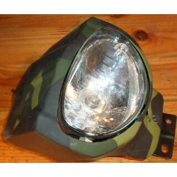 Phare (central) quad utilitaire Loncin 250 + ferrure + carenage camouflage