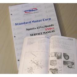 Manuel de service pour quad Barossa 250cc en anglais