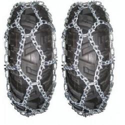 Paire de chaine à neige KOLPIN Taille D pour pneus de quad et SSV
