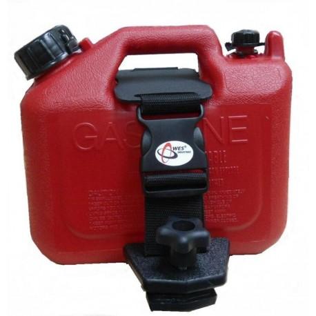 Bidon ART 5L rouge avec rack attache-rapide Can-Am