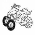 Pneus avant pour quad Honda TRX 200 1996-1997