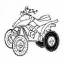 Pneus arriere pour quad Kawazaki Prairie 400 2WD-4WD
