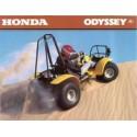 Honda Odyssey 1977-1981, les pneus disponibles